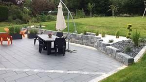 Terrasse Avec Muret : adrien michel paysagiste am nagements paysagers sur le ~ Premium-room.com Idées de Décoration