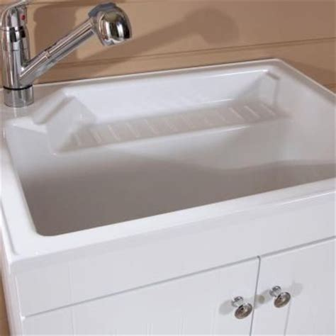 Glacier Bay Laundry Tub Home Depot by 27 5 In W X 21 8 In D Composite Laundry Sink