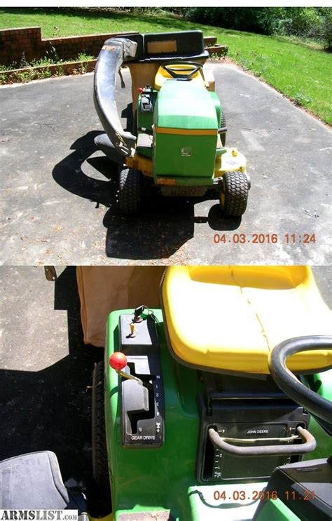 lawn mower with bagger for sale armslist for sale john deere lawn tractor with dump cart bagger