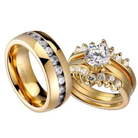 camo wedding ring sets for him and her wedding rings model