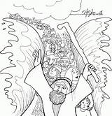 Moses Coloring Pages Sea Crossing Printable sketch template