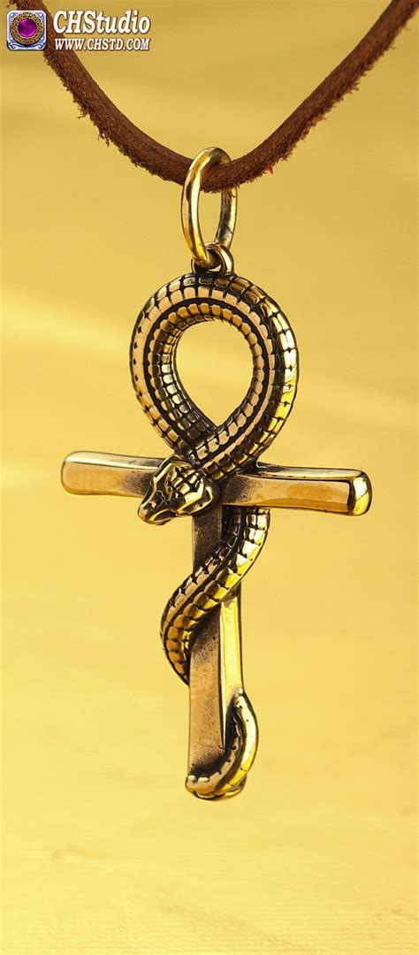 c h studio ankh serpent egyptian ankh ankh necklace