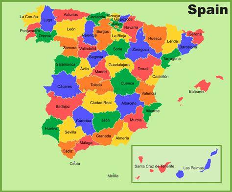 spain provinces map
