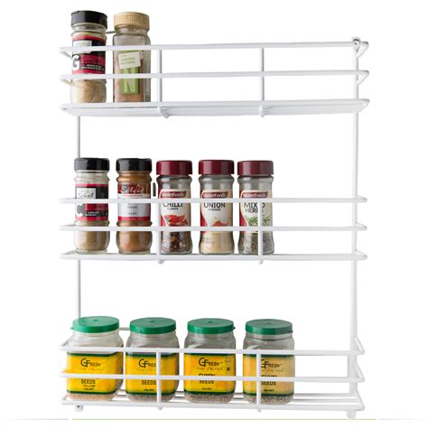 tiered spice racks for kitchen cabinets kitchen pantry spice rack white 3 tier l t williams 9463