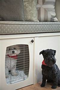 built in storage living room built in dog crate With 2 room dog crate