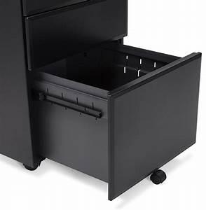 Caisson Bureau Noir : caisson de rangement noir 3 tiroirs pour bureau zali ~ Teatrodelosmanantiales.com Idées de Décoration