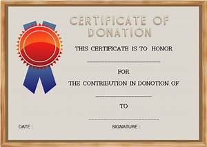 Template For Cover Letter 22 Legitimate Donation Certificate Templates For Your Next