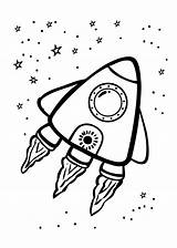 Coloring Space Pages Rocket 4kids sketch template