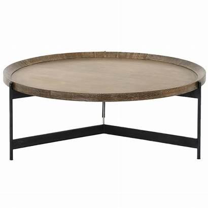Coffee Table Tray Round Modern Oak Classic