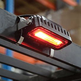 red zone safety light forklifts attachments lights led forklift quot red zone