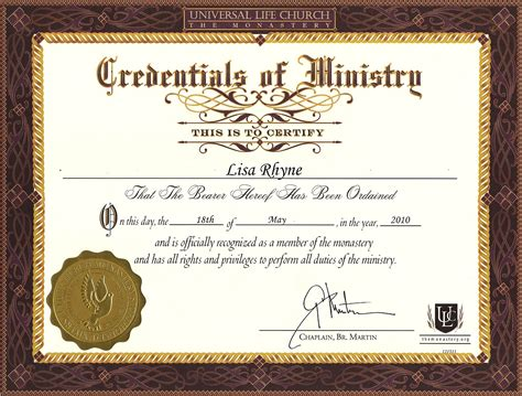 Certificate Of Wiccan Ordination Template Free by The Dream Masters Lisa Rhyne