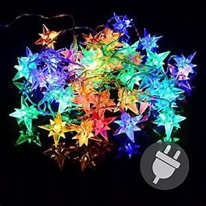 Lichter Für Den Garten : 40er led lichterkette stern weihnachten bunt sternenlichterkette xmas au en f r den garten ~ Sanjose-hotels-ca.com Haus und Dekorationen