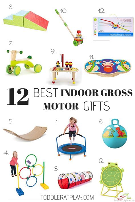 gift guide   indoor gross motor gifts toddler  play