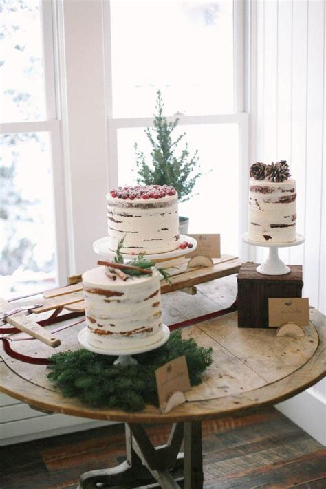 Rustic Winter Wedding Cake Candy Cake Weddings Favors