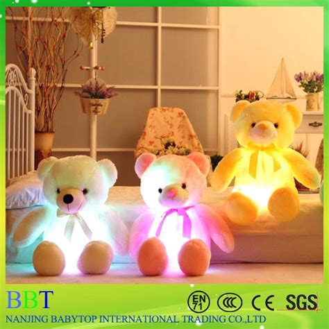 Customized Led Big Bear Toy With Big Head And Small Body