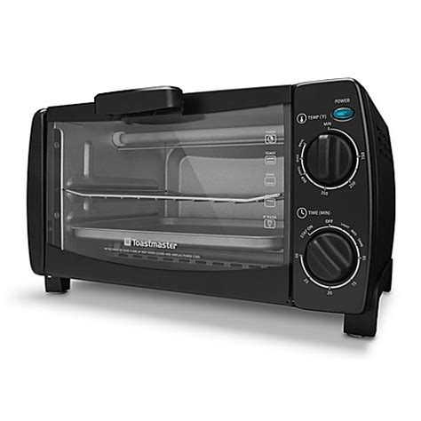 Toastmaster Toaster Oven by Toastmaster 4 Slice 10 Liter Toaster Oven In Black Bed