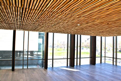 Suspended Wood Ceiling by Wavy Wood Ceilings By Valley Archello