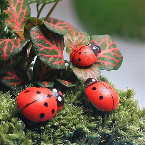 pcs wood craft miniature garden lawn ornaments insect