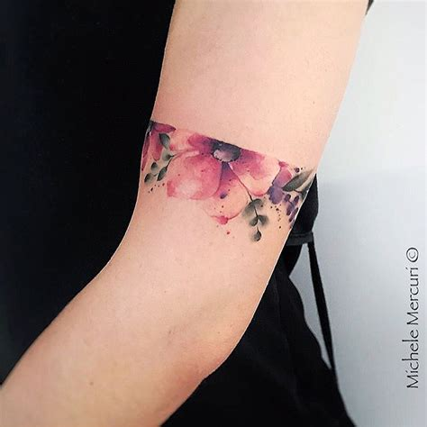 tattoosorg flower arm band tattoo artist equilattera