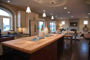 Open Concept Kitchen/Dining/Living Room - Traditional