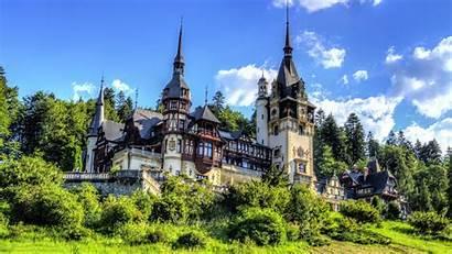 Romania Castle 4k Peles Sinaia Wallpapers Carpathian