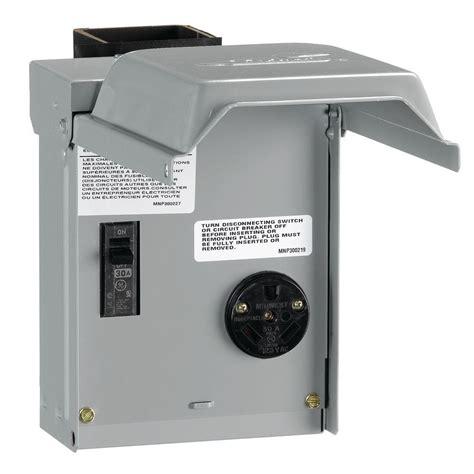 ge  amp temporary rv power outlet  breaker ucp