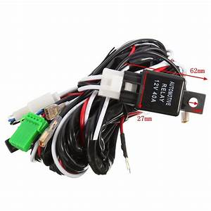 Led Spot Light Wiring Loom Harness Relay Switch For Toyota