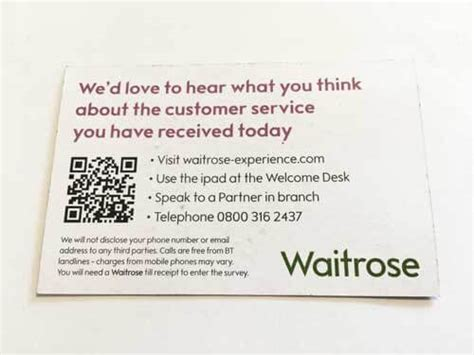 Waitrose's Quality Experience Business Card Order Template Online Word Metal Cards Nyc Office Depot Free Templates Tray Organizer Canada Credit Natwest Payment Login