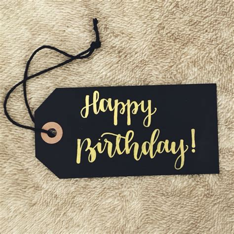 happy birthday calligraphy tag calligraphy  hand