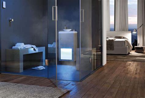 box doccia a parete bagno turco cromoterapia radio dispenser aromi idfdesign