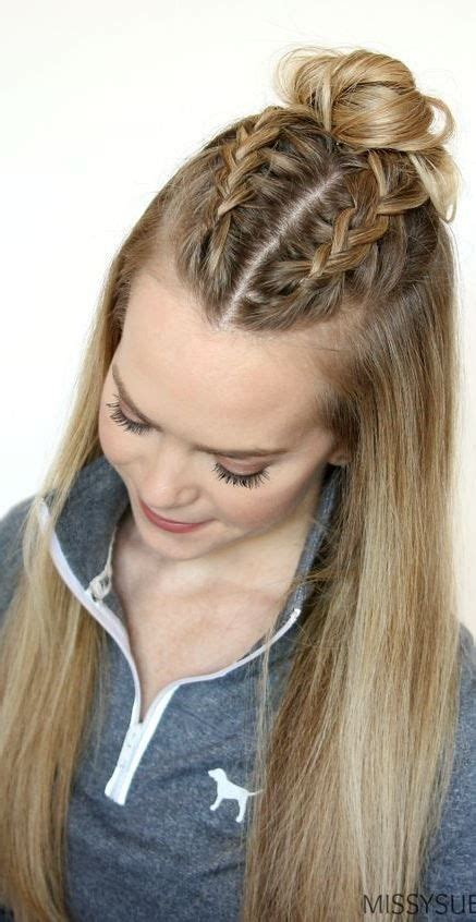 simple and easy hairstyles for long thick hair cute updos for long thick hair