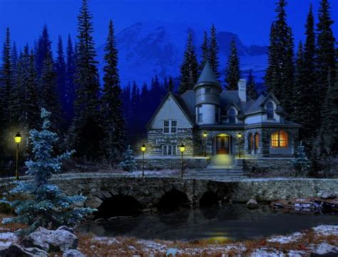 Snowy Cottage Animated Wallpaper - free snowy cottage screensaver free programs