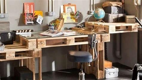 bureau palette bois faire un bureau en bois de palette des modèles