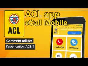 acl app how to ecall mobile