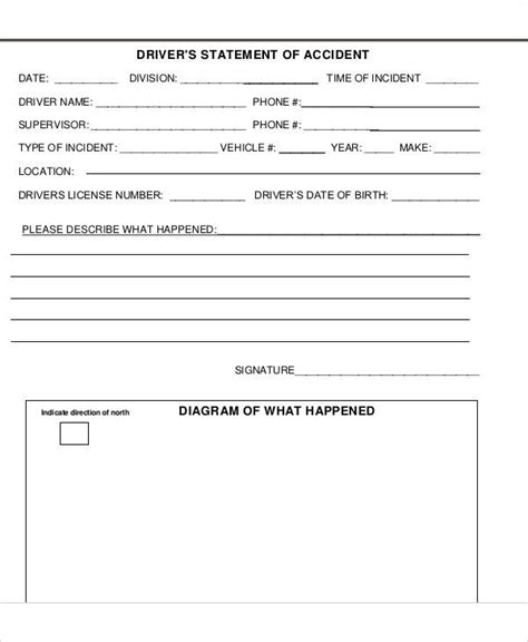 statement form