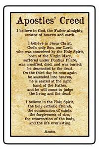 Apostles Creed Prayer Catholic