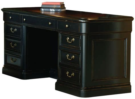 Executive Credenza by Louis Phillippe Black Executive Credenza From Hekman
