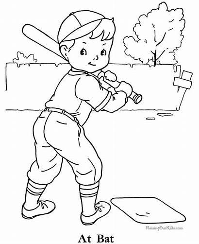 Baseball Coloring Pages Printable Sports Sheet Boy