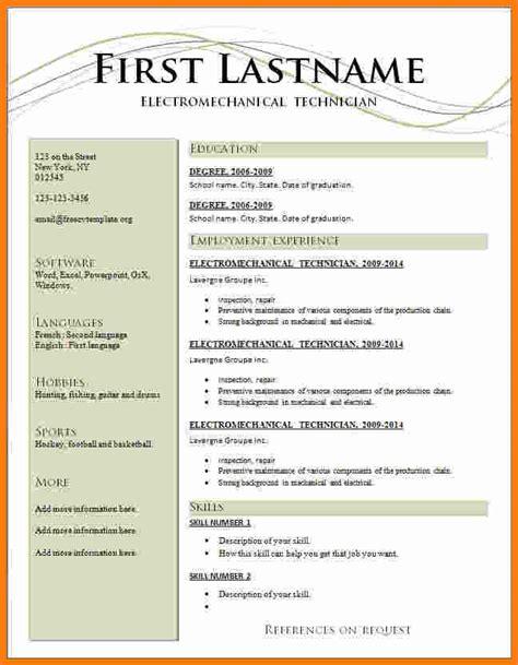 Resume Format Word File by Resume Format Ms Word File Cv In Earpod Co