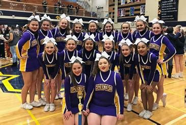 hanford cheer squads headed  florida  nationals