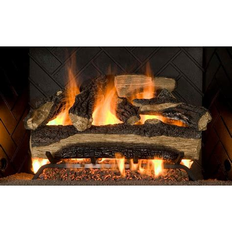 emberglow mountain oak vented natural gas fireplace fire