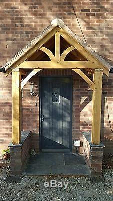 redwood porch front door canopy handmade  shropshire grosvenor  oak
