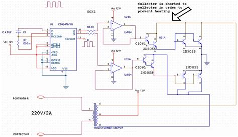 Transistored Power Inverter Circuit Diagram World
