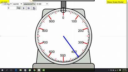 Weighing Scale Mass Measurement Physics Weigh Interactive