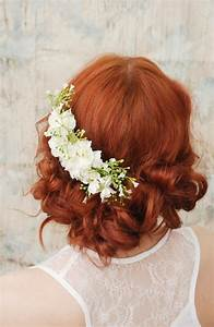 Wedding Headpiece White Flower Comb Shabby Chic Bridal