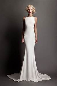 Simple wedding dresses stylish versatile and more for Simple white wedding dress