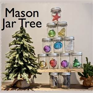 Mason Jar Christmas Tree Country Design Style