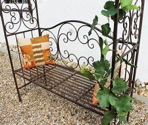 Pergola Aus Metall : rosenbogen mit bank 120852 aus metall 250cm gartenbank spalier pergola kletterhilfe kaufen bei ~ Sanjose-hotels-ca.com Haus und Dekorationen