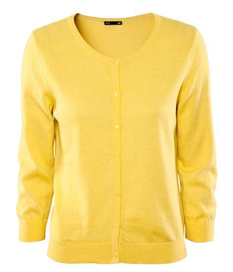 yellow cardigan sweater h m cardigan in yellow lyst