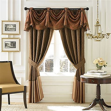croscill couture palazzo window curtain panel  valance